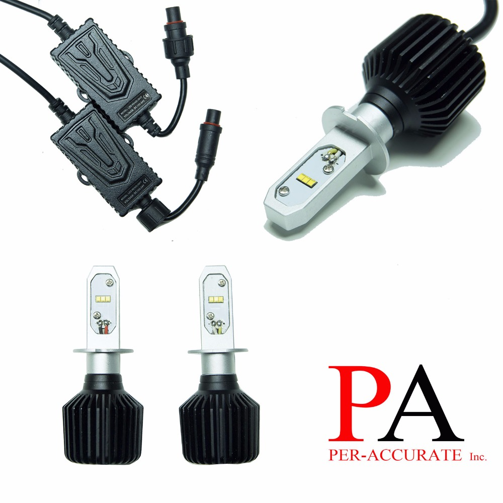 PA LED 1pair x H3 LED Chip 60W Headlight Foglight Bulb Kit White Lamp Light Sourcing H3 9 32V
