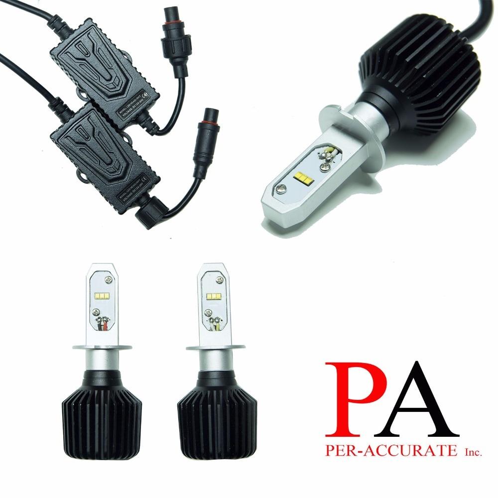 PA LED 1 paire x H3 puce LED 60 W Kit ampoule Foglight lampe blanche approvisionnement en lumière H3 9-32 V