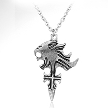 dongsheng Hot Vintage Game Jewelry FF8 Final Fantasy VIII Squall Griever Collana pendente Squall Lion Heart Collana cosplay