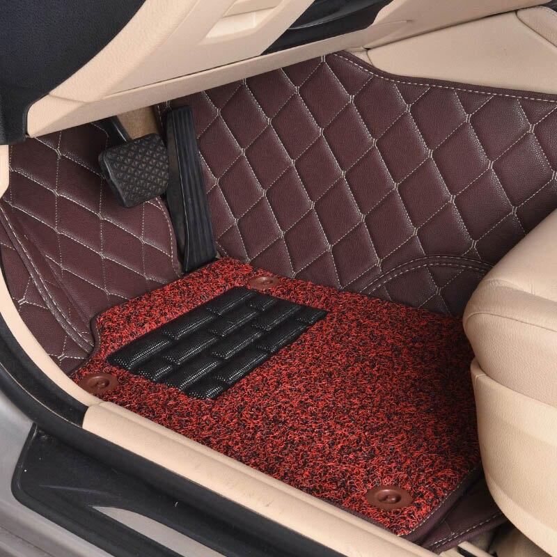 Custom car floor mats for Fiat All Models Ottimo 500 Panda Punto Linea Sedici Viaggio Bravo Freemont car styling floor mat