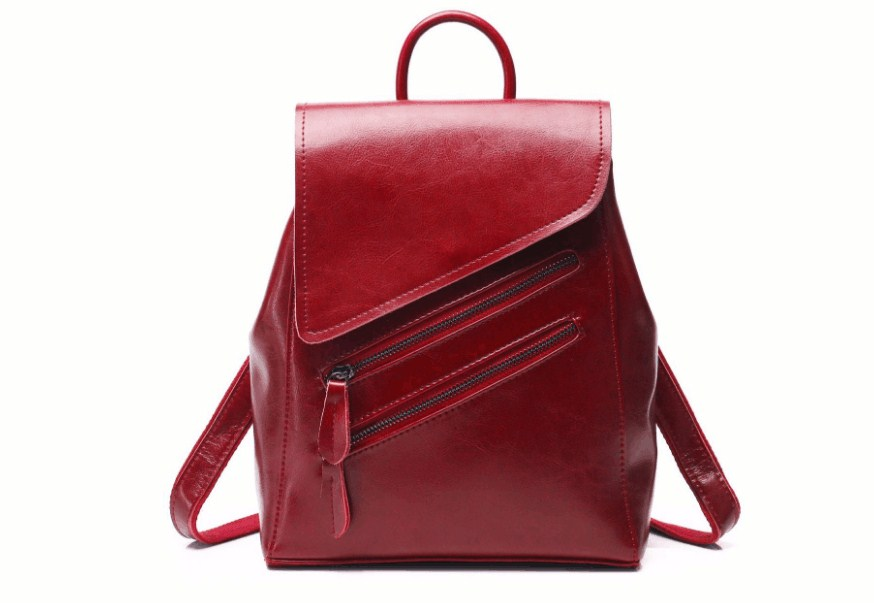 Del cuoio genuino di modo delle donne allaperto sacchetto di scuola dello zainoDel cuoio genuino di modo delle donne allaperto sacchetto di scuola dello zaino