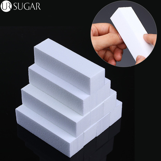 10Pcs/set Sanding Sponge Nail File Buffer Block for UV Gel Nail Polish Nail Art Manicure Pedicure White Nail Buffers File Tool