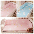 Crib bumper 1pcs Baby bedding set baby crib duvet cover baby pillowcase bed sheet bed bumper swan design for girls boys