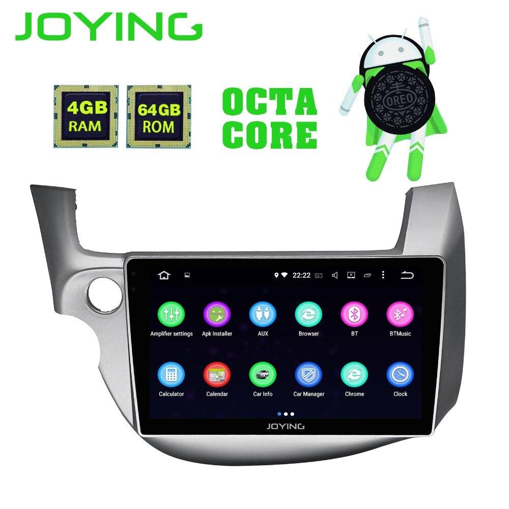 JOYING Android 8,1 автомобильный мультимедийный плеер магнитофон gps навигатор 8 ядерный 64 ГБ rom 4 ГБ ОЗУ радио для Honda Fit/Jazz 2008-2013