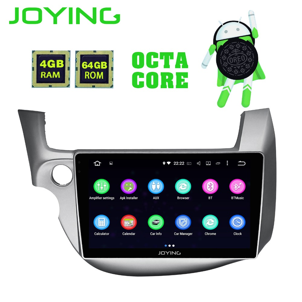 JOYING Android 8.1 Car Multimedia Lettore Registratore a Nastro Navigatore GPS 8 core 64 gb ROM 4 gb di RAM Radio per honda Fit/Jazz 2008-2013
