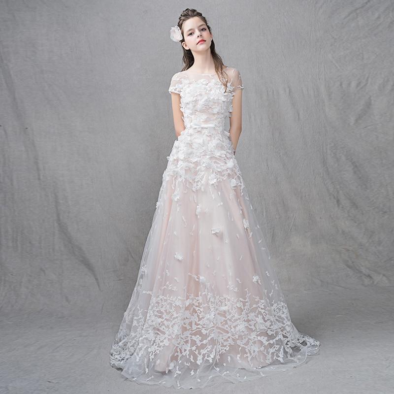Light Pink Beach Wedding Dress Vintage Simple Wedding