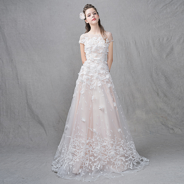 bf19d1272e Light Pink Beach Wedding Dress Vintage Simple Wedding Dresses 2017 Vestido  De Noiva Amazing Appliqued Lace Up Wedding