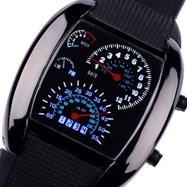 220d3c175c6 Misturar 2 cores LED Painel Versão Relógio Relativo À Promoção do Sector Da  Aviação Levou Relógio