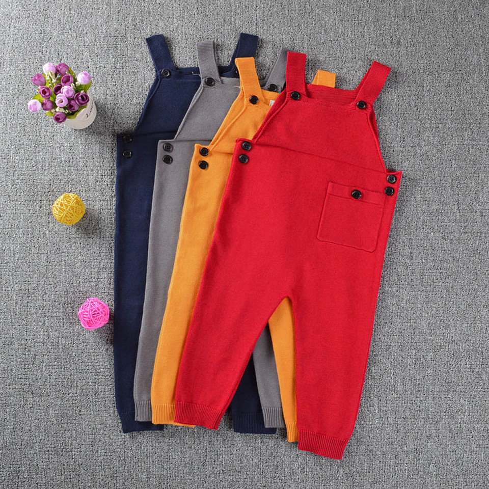 Cutemini Baby Girl Boy Corduroy Strap Suspender Overalls Pant Solid Color Jumpsuit One-Piece Bib Pants with Pockets Spring Fall Clothes