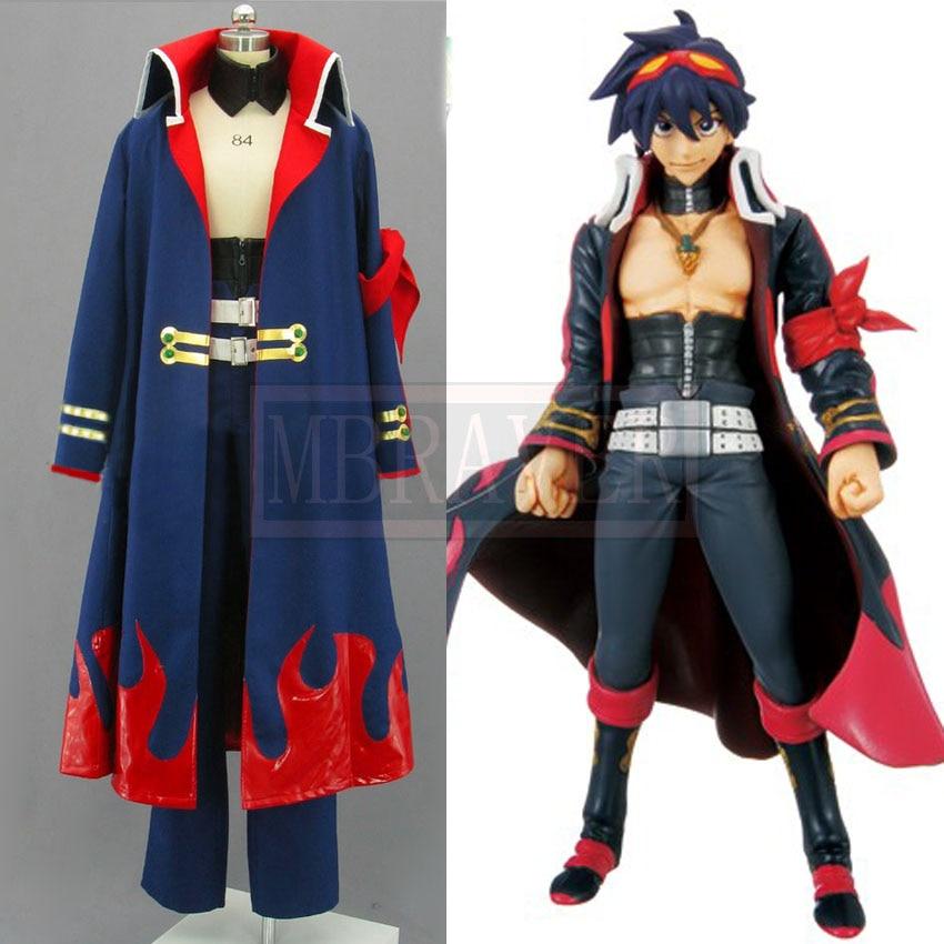 Japanese Anime Outfit Tengen Toppa Gurren Lagann Simon Cosplay Costume