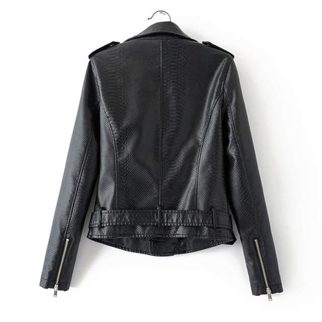7a9041bda US $45.36 |Fitaylor Spring Autumn Faux Leather Jacket Short Coat Women Faux  Snakeskin Pu Leather Female Rivet Zipper Epaulet Punk Outerwear-in Leather  ...