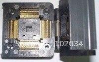 100% NIEUWE IC51-1284 QFP128 TQFP128 IC Test Socket/Programmeur Adapter/Burn-in Socket (IC51-1284-1236)