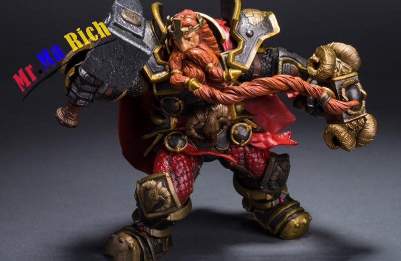 Wow Hit Game Dwarven King Magni Bronzebe Toy Figure Figurine Doll Pvc Collectible New 16cm world of warcraft wow pvc action figure display toy doll dwarven king magni bronzebeard