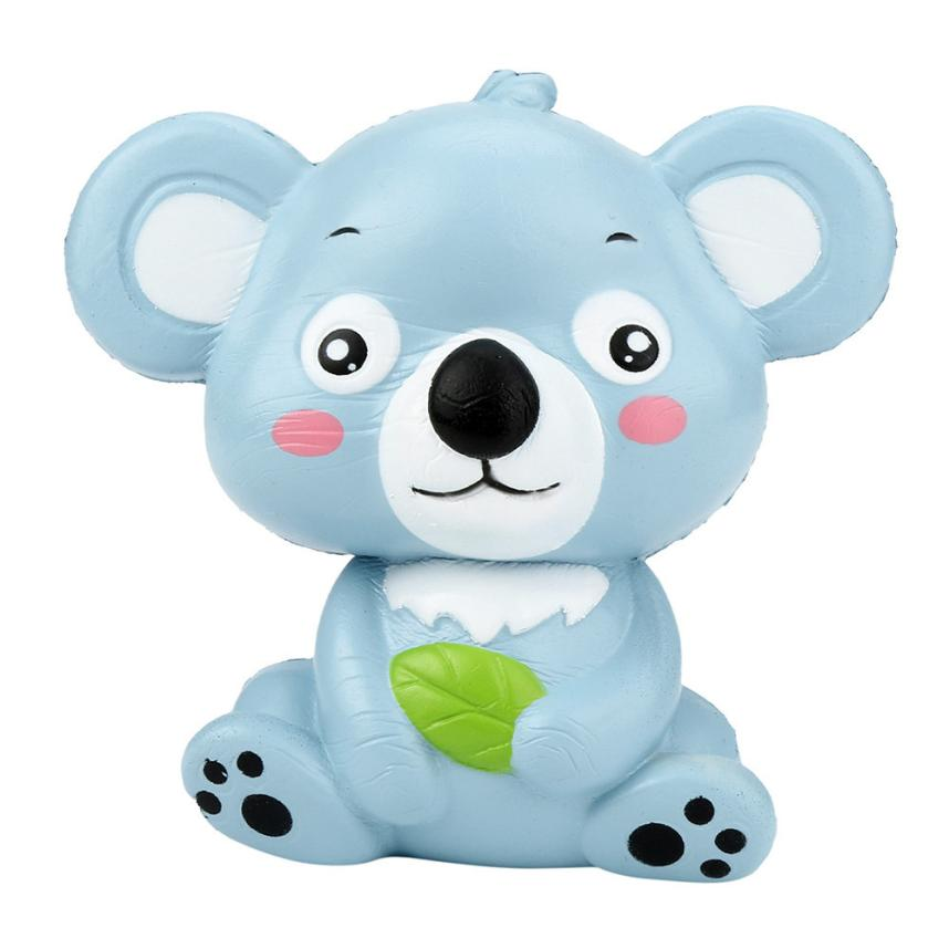cute,KoalaHot !New 12cm Cute Koala Cream Scented Squishy Toy Slow Rising Squeeze Strap Kid Toy Gift Decompression Fun Toys for C