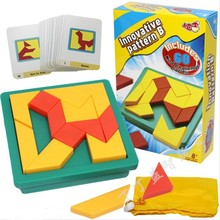 купить New Hot IQ Mind Tangram Puzzle Logic Brain teaser Kids Educational Game Toys Gift for Children дешево