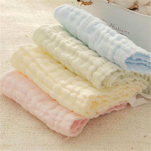 Rosto towel baby cotton gaze muslin toalha infantil towel governanta quadrado branco pequeno bebê 0-3 recém-nascidos na mão crianças 50a063