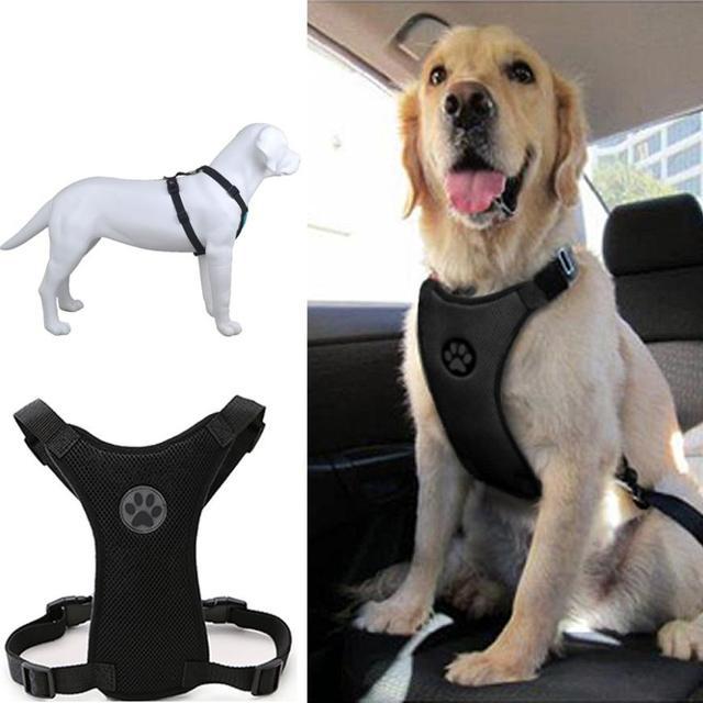 Transer Dog Leash Soft Mesh Car Seat Safety Vehicle Cars Belt For Medium