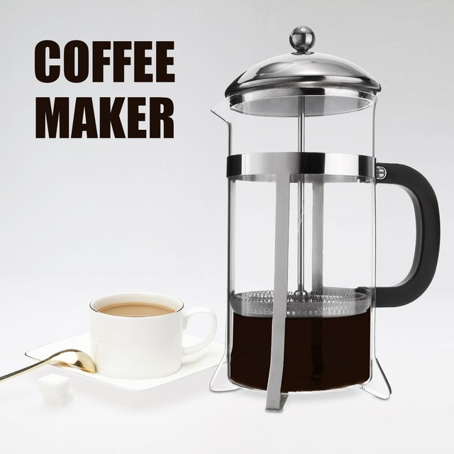 Gl Stainless Steel Coffee Maker Machine Press Filter Home Cafetiere Barista Making Tools Accessories Percolator