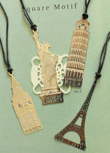 Zakka tower silver metal bookmark vintage Bookmarks 4