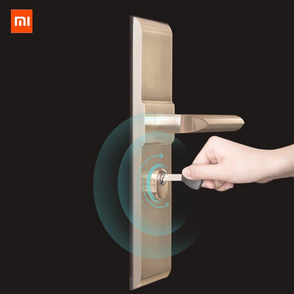 Original xiaomi mi jia aqara cerradura inteligente puerta de seguridad del hogar práctico Anti-robo Puerta de bloqueo núcleo con llave con mi aplicación de inicio - 4