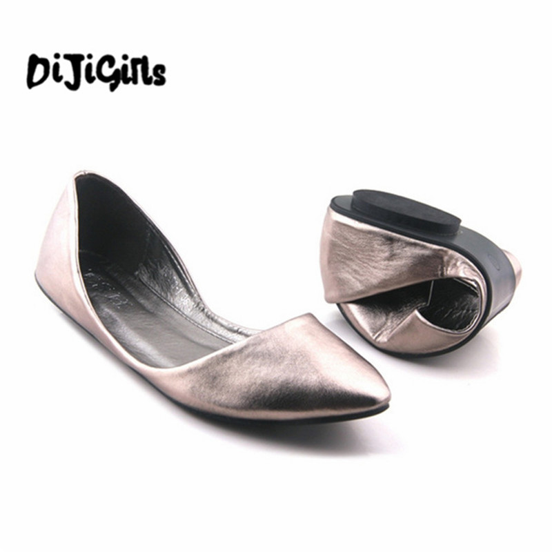 Spring and Autumn Fashion Flats Women Pointed Toe Soft Outsole Flat Heel Shoes Single Casual Flats Plus Size 40 Free Shipping flock women flats 2017 pointed toe ladies single shoes fashion shallow casual shoes plus size 40 43 small yards 33 sapatos