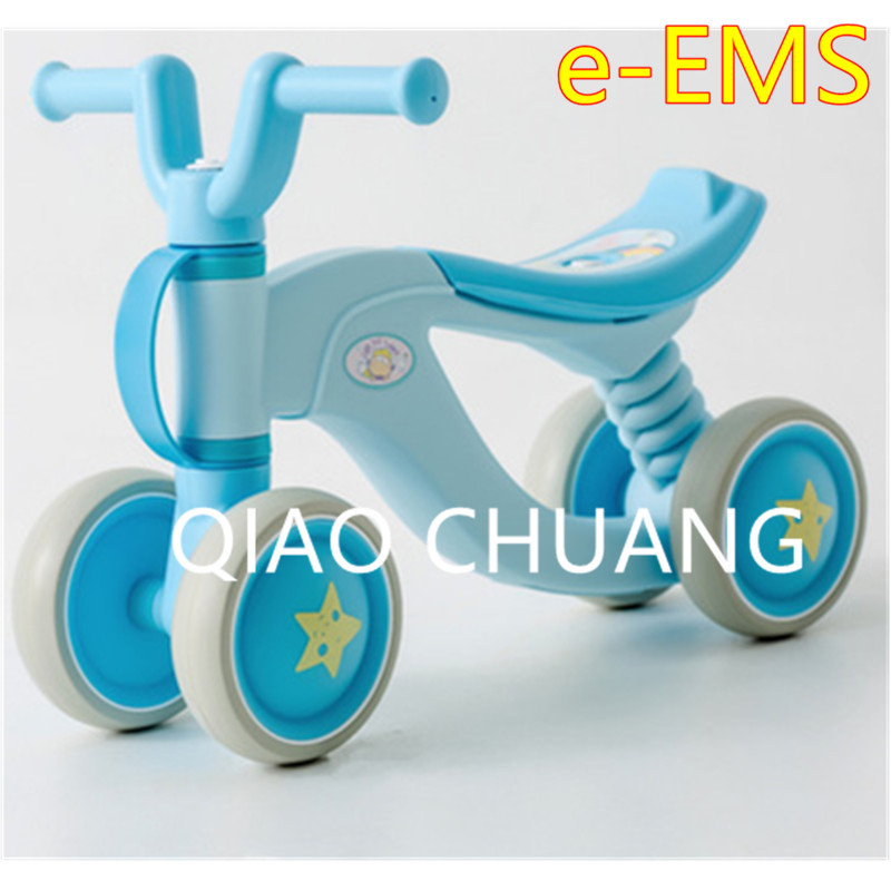3 Colour Exercise Your Baby's Balance Four Rounds No Pedals First Bike Baby Walker Baby Swing Car Mute Wheel Scooter G1522 children baby swing car three round no pedals balance bike mute wheel skid resistance exercise your baby s balance g1521