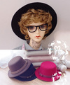 M7-BJD Doll accessories mini flatcap photography tool 3 colors