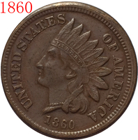 1860 Indian head cents coin copy FREE SHIPPING