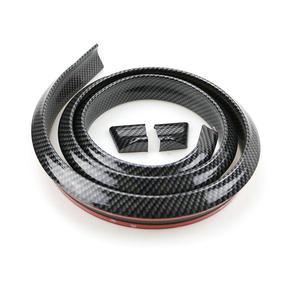 Image 5 - ユニバーサル模造炭素繊維車リアルーフスポイラートランクリップウィング車 Boky キットトリムエンジンシールド 1.5 メートル