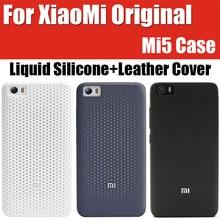 ZCK0224 для Xiaomi MI5 случае Оригинальный бренд жидкого кремния противодетонационный матовая синхронизации наличии кожа флип чехол для Xiaomi MI5 M5 премьер