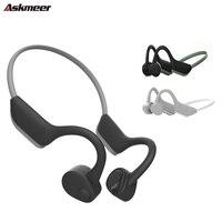 ASKMEER J20 Bluetooth 5.0 Stereo Headset Bone Conduction Headphones Wireless Sport Running Earphone With Mic for iPhone Huawei