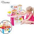 Elétrica diy mini supermercado cozinha & compras para o bebê play house toys cozinha educacional das crianças clássico pretend play toys