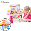 Electric DIY Mini Supermarket Cooking&Shopping for Baby Play House Toys children's Kitchen Educational Classic Pretend Play Toys