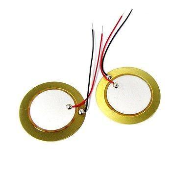 50 ШТ. 35 мм Пьезоэлектрических Элементов звуковой Эхолот Датчик Барабан Диск + медный провод