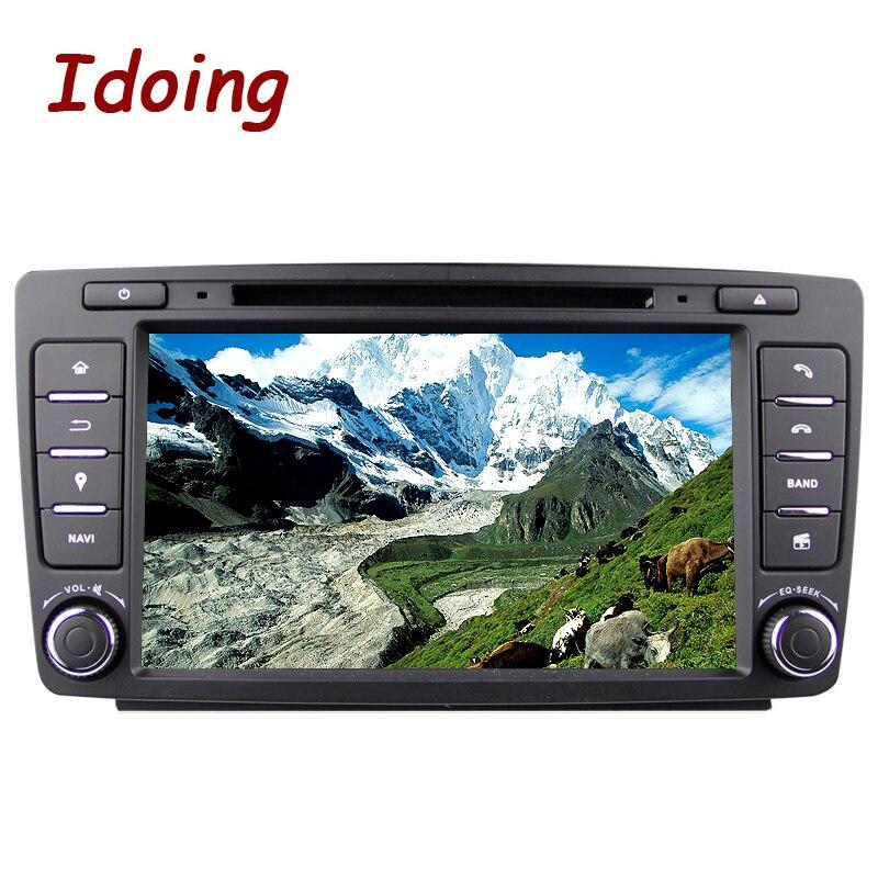 Idoing 2 gb + 16g Volante 2Din Android6.0 Per Skoda Octavia 2 Auto Lettore DVD Multimediale di Navigazione built-in 3g Ciondola Radio