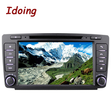 Idoing 2GB+16G Steering-Wheel 2Din Android6.0 For Skoda Octavia 2 Car DVD Multimedia Player Navigation Built-in 3G Dangle Radio