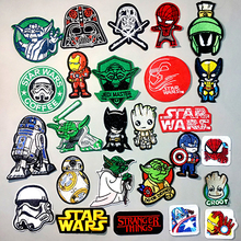DIY The Avengers Patch Embroidered Patches For Clothing Iron on On Clothes Star Wars Cute Badges Applique Stripes