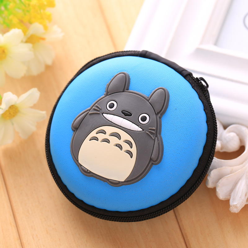 Kawaii Totoro Silicone Coin Purse Lovely Anime Coin Key Package Bags Mini Earphone Holder monederos para mujer Gift Kids Wallets novelty pokemon silicone coin purse pocket monster anime cartoon pikachu zipper wallet mini round earphone holder kids coin bags
