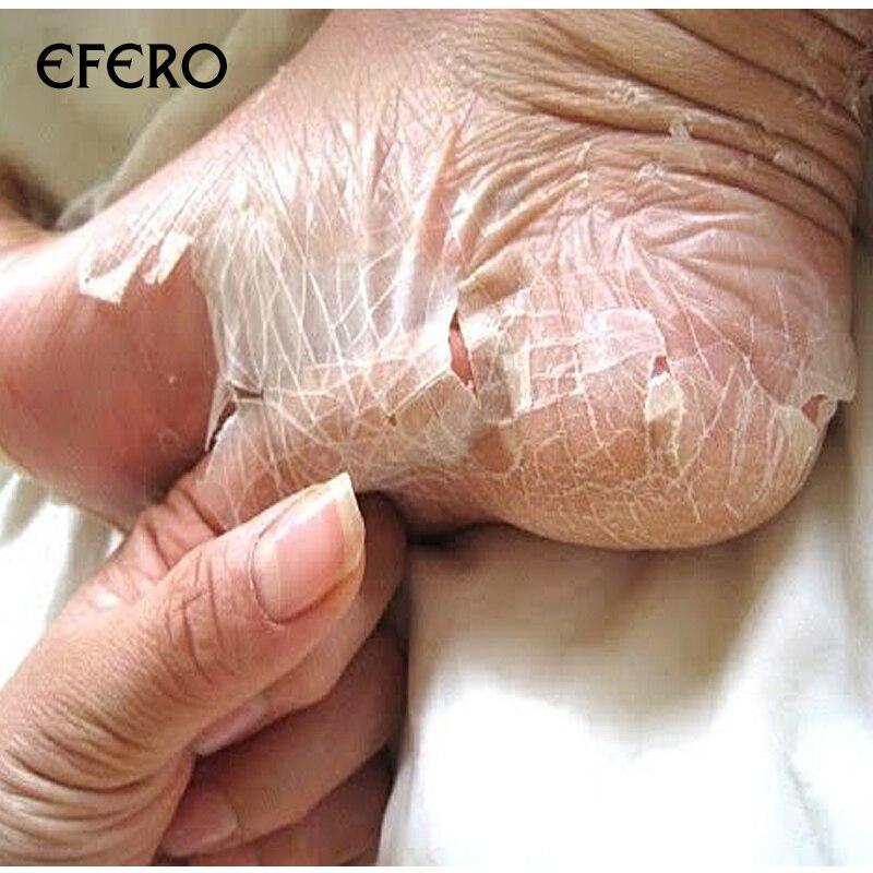 Hautpflege 4 Pairs Efero Fuß Creme Peeling Fuß Maske Für Beine Feuchtigkeitsspendende Socken Füße Peeling Maske Pediküre Ferse Pflege Fuß Peeling Socken