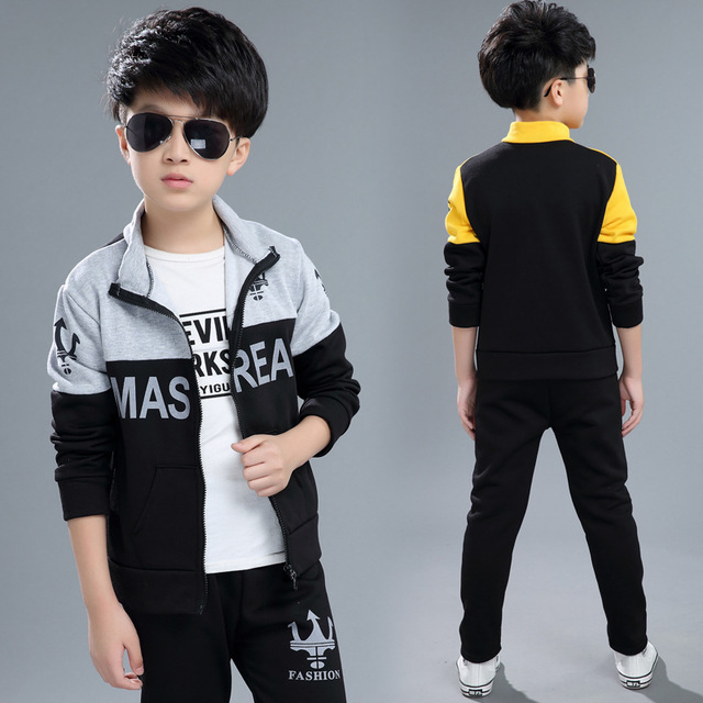 9f38bfe7525f Boys Clothes Girls Set Long Sleeve Autumn Winter Kids Outfits ...