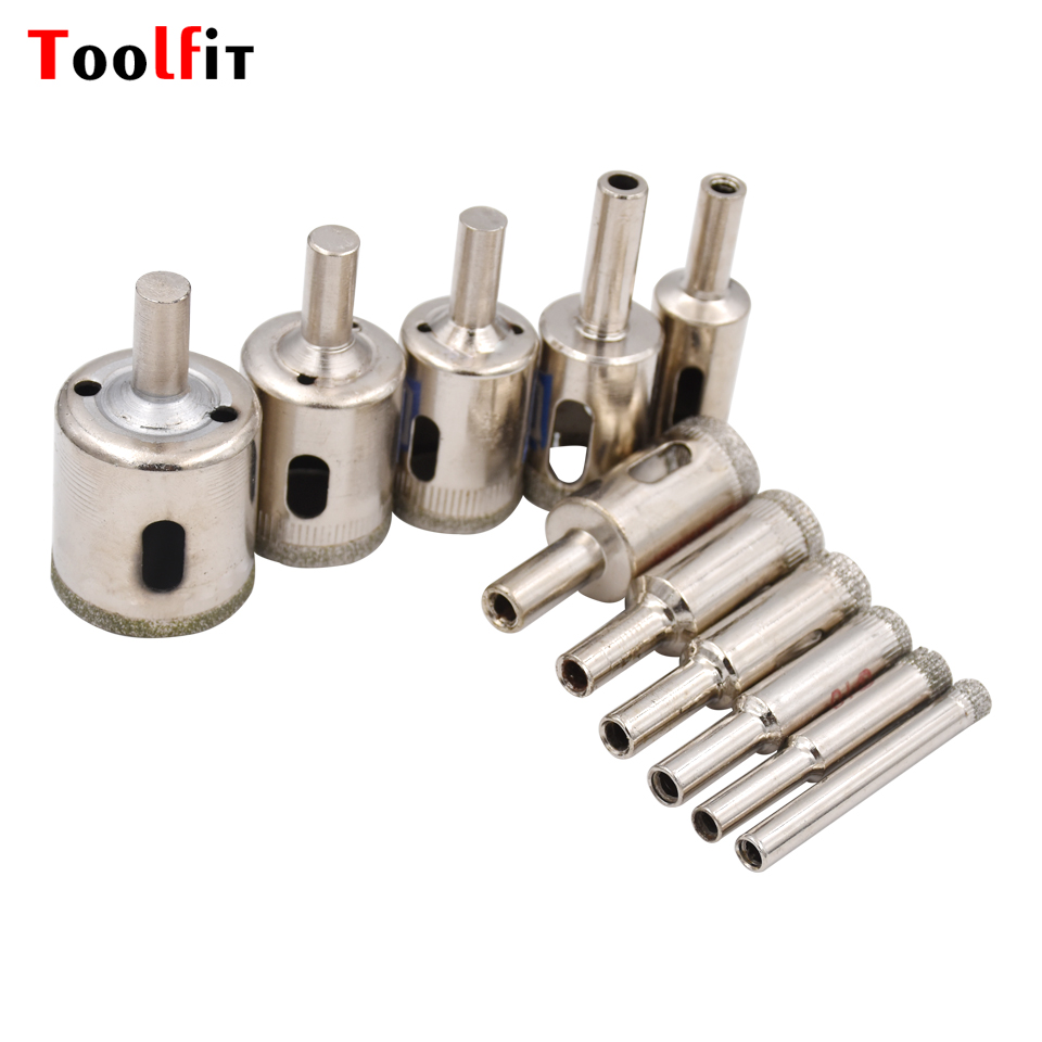 5pcs Set 6-30mm 11 Different Size Diamond Coated Core Hole Saw Drill Bits Tool Cutter For Tiles Marble Glass Granite Top Quality гибкий кабель для мобильных телефонов for apple ipad wi fi 5 for ipad air