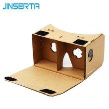Jin5d óculos de realidade virtual, óculos de papelão google 3d vr com ímã, visão 3d para celular 3.5-6.0 polegadas