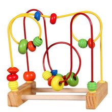 Wooden Montessori Materials Math Toys For Children Counting Around Beads Maze Roller Coaster Baby Early Learning Education Toys(China)