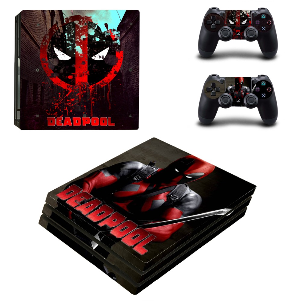 PS4 Pro Skin Sticker of DEADPOOL Vinyl Decal Cover For Sony Playstation 4 Console&Controllers