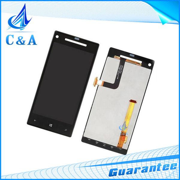 1 unidades negro reparación de piezas de reemplazo 4.3 probó el envío libre pulgadas de pantalla lcd con el tacto de la pantalla para htc 8x c620e digitalizador