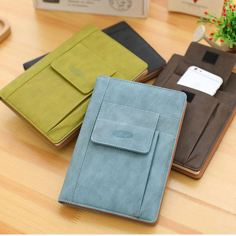 2017 Creative Hardcover Color PU Diary Notebook with Pencil Bag Notebook Personal Diary Journal Planner Office School Supplies 365 day thick hardcover personal diary