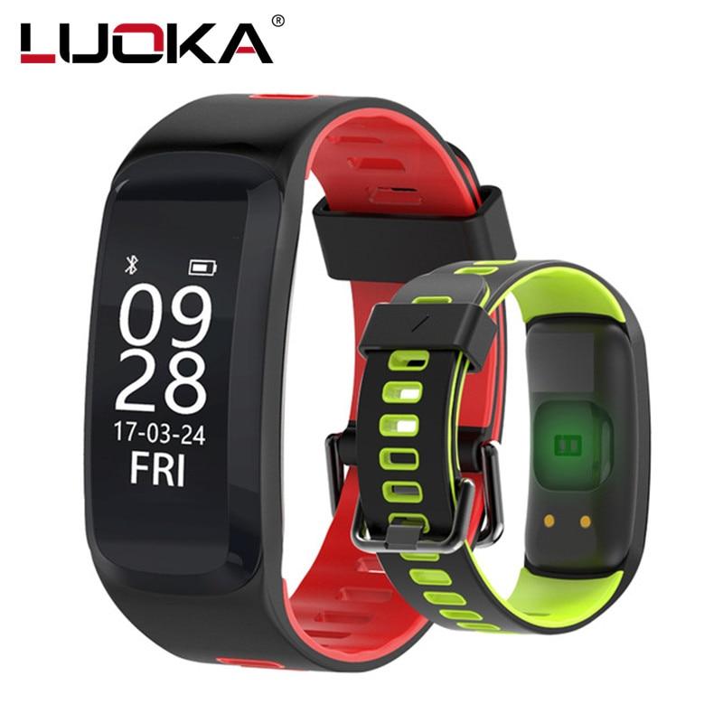 Luoka F4 Смарт-фитнес браслет IP68 водонепроницаемый Приборы для измерения артериального давления кислорода сердечного ритма Мониторы SmartBand браслет для IOS/Android