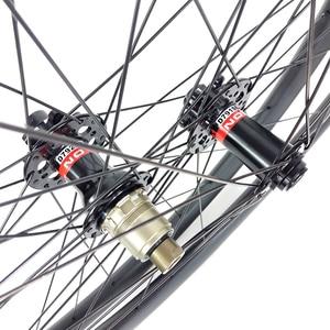 Image 3 - 29er MTB XC hookless racing carbon wheelset 30mm x 30mm UD matt Novatec D791SB D792SB tubeless woods gravel bicycle wheels