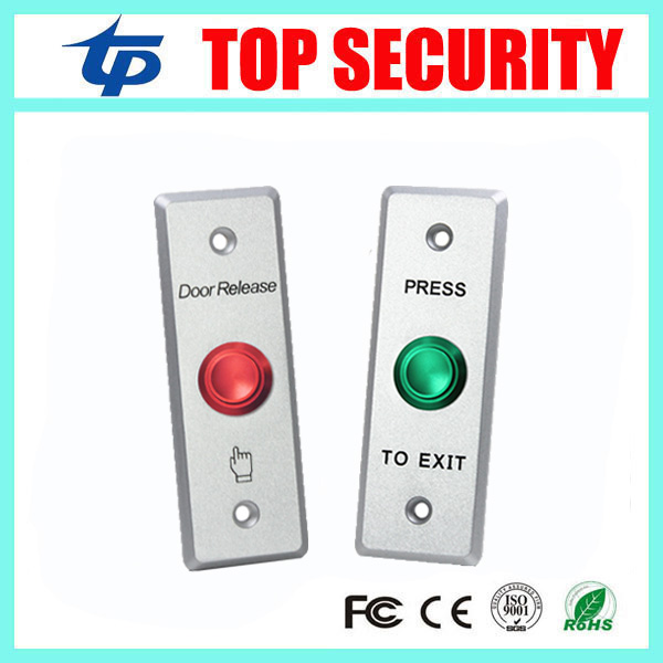 Access Control Exit Button Stainless Steel Exit Switch Door Release Push Exit Door Opener Door Lock System Push Exit Button lpsecurity stainless steel door access control led backlit led illuminated push button door lock release exit button switch