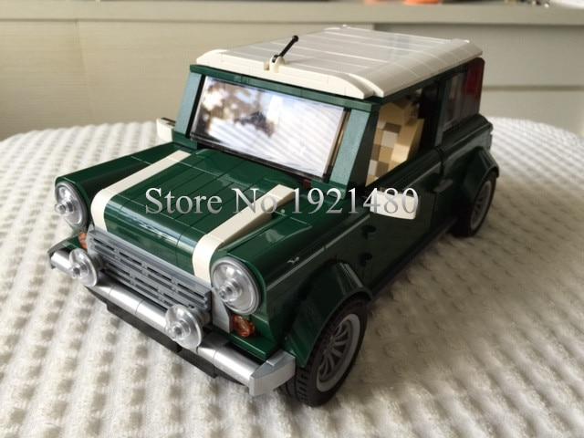 2017 NEW 1077 Pcs Building Blocks 002 Mini Cooper Model Building Car For Kids Bricks For Gift Compatible With 10242 21002 revell mini cooper